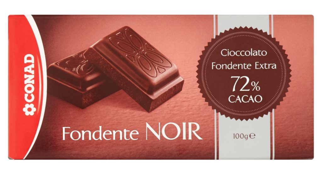 chocolate preto noir conad