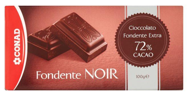 cioccolato fondente noir conad