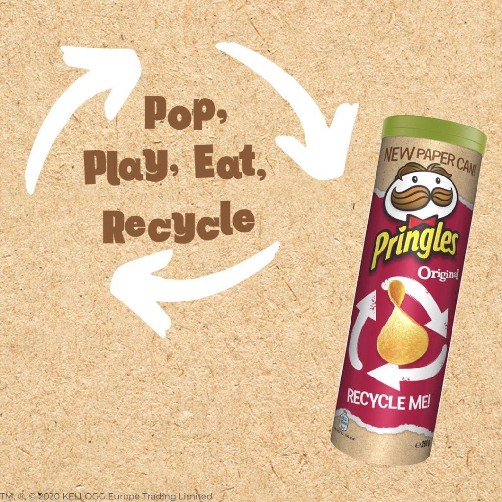 pringles nuovo tubo riciclabile