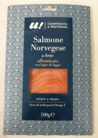 unes salmone norvegese affumicato 100