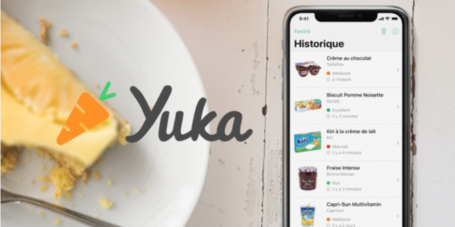 yuka app nome piatto dolce smartphone