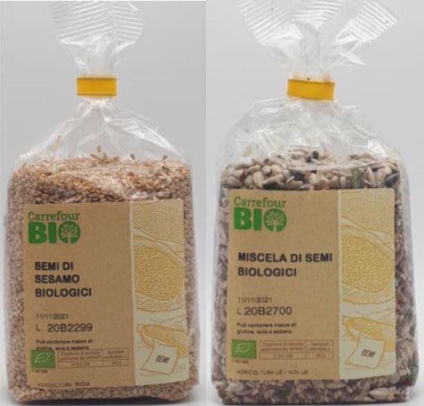 Semi di sesamo miscela di semi biologici carrefour