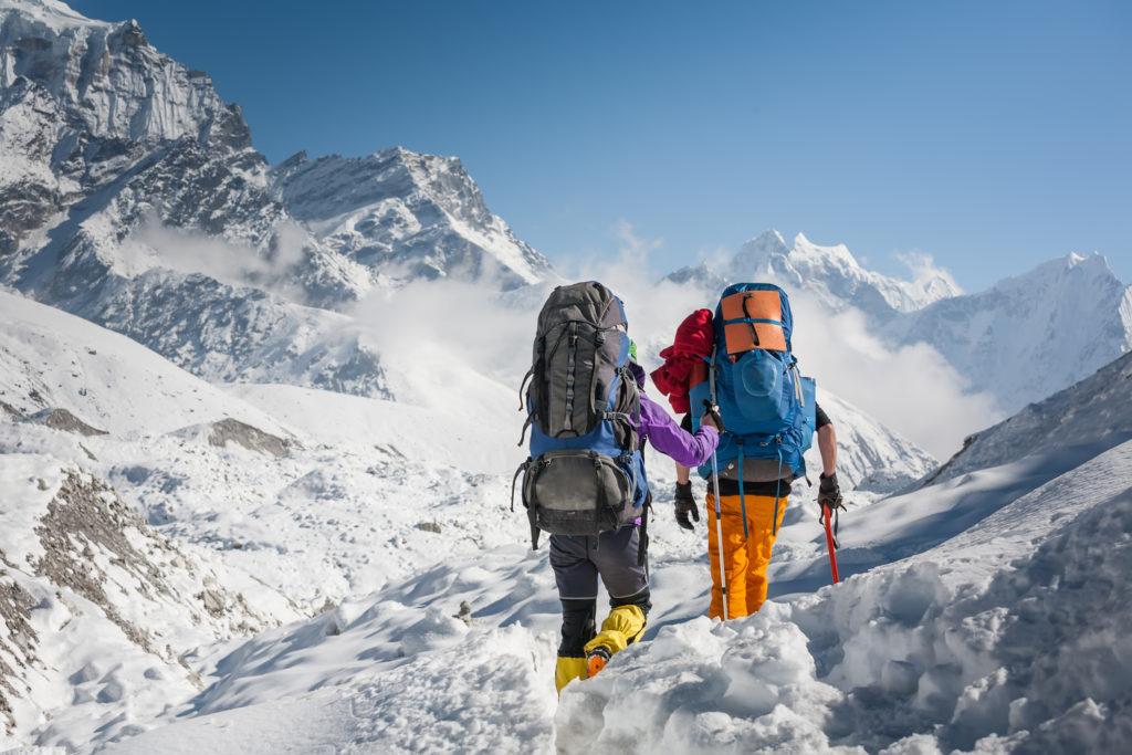 montagna alpinisti