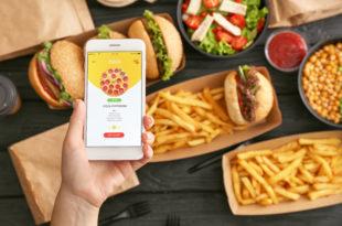app food delivery smartphone cibo consegna a domicilio