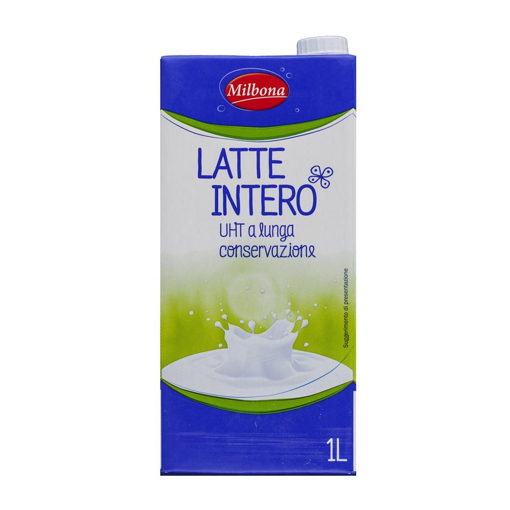 lidl milbona latte intero uht