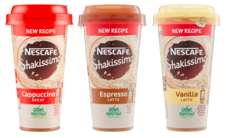 Nescafé shakissimo cappuccino decaffeinato espresso vaniglia