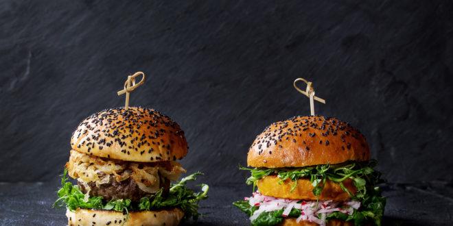 burger vegetale manzo carne rossa panini pane insalata