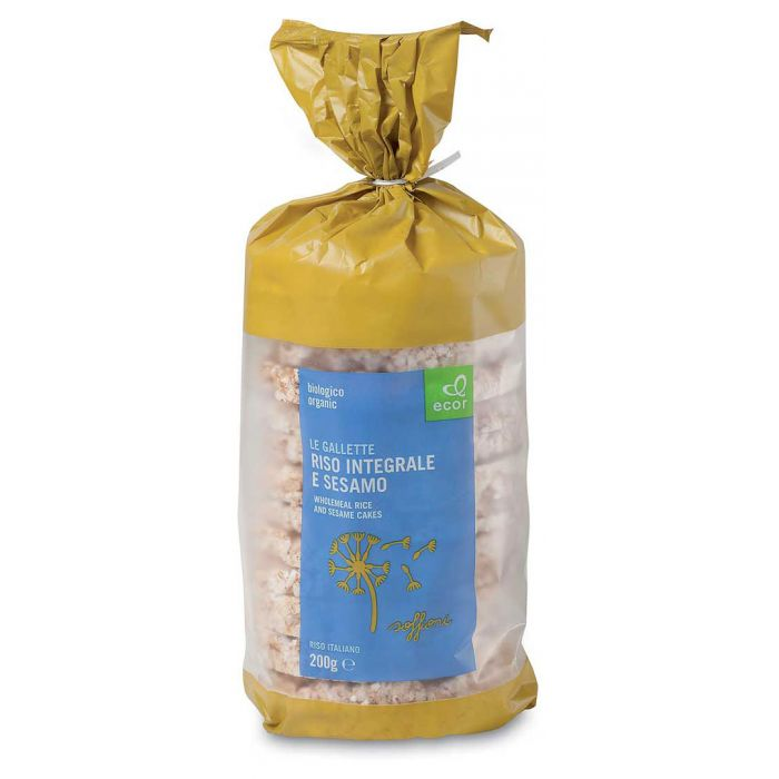 bolos de arroz integral ecor gergelim orgânico