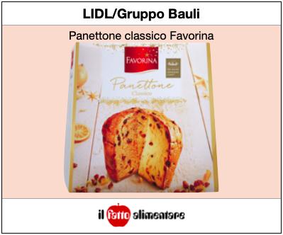 panettone Lidl Favorina Gruppo Bauli