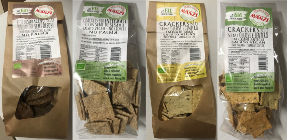 pasticceria biologica manzi saraceno cracker