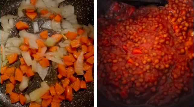 soffritto lenticchie pomodoro