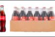 bottiglia di coca-cola in vetro scatola di cartone