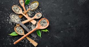 Ossido di elimene, cucchiai con semi di sesamo