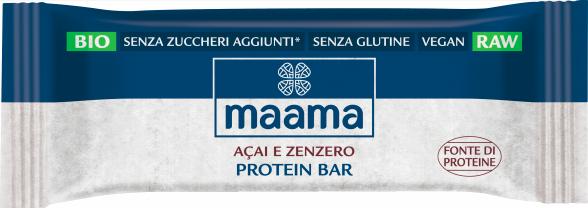barrette proteiche açai zenzero maama