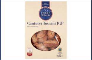 richiamo cantucci toscani igp mandorle terre d'italia carrefour