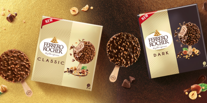 Ferrero lancia cinque nuove proposte di gelati confezionati: Ferrero Rocher, Raffaello e i ghiaccioli Estathé Ice