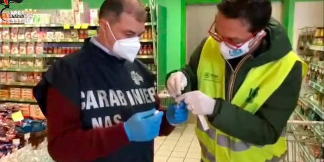 nas controlli supermercati tampone