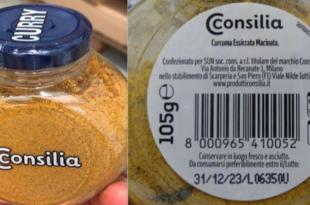 curry curcuma consilia etichetta