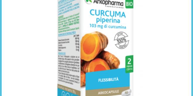 integratore alimentare curcuma piperina arkopharma