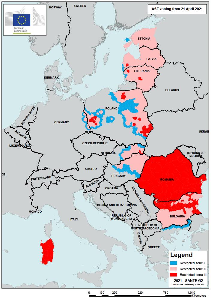 peste suina africana mappa commissione europea