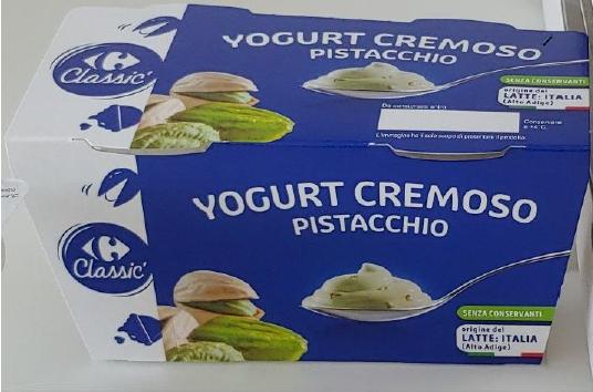 yogurt pistacchio carrefour classic