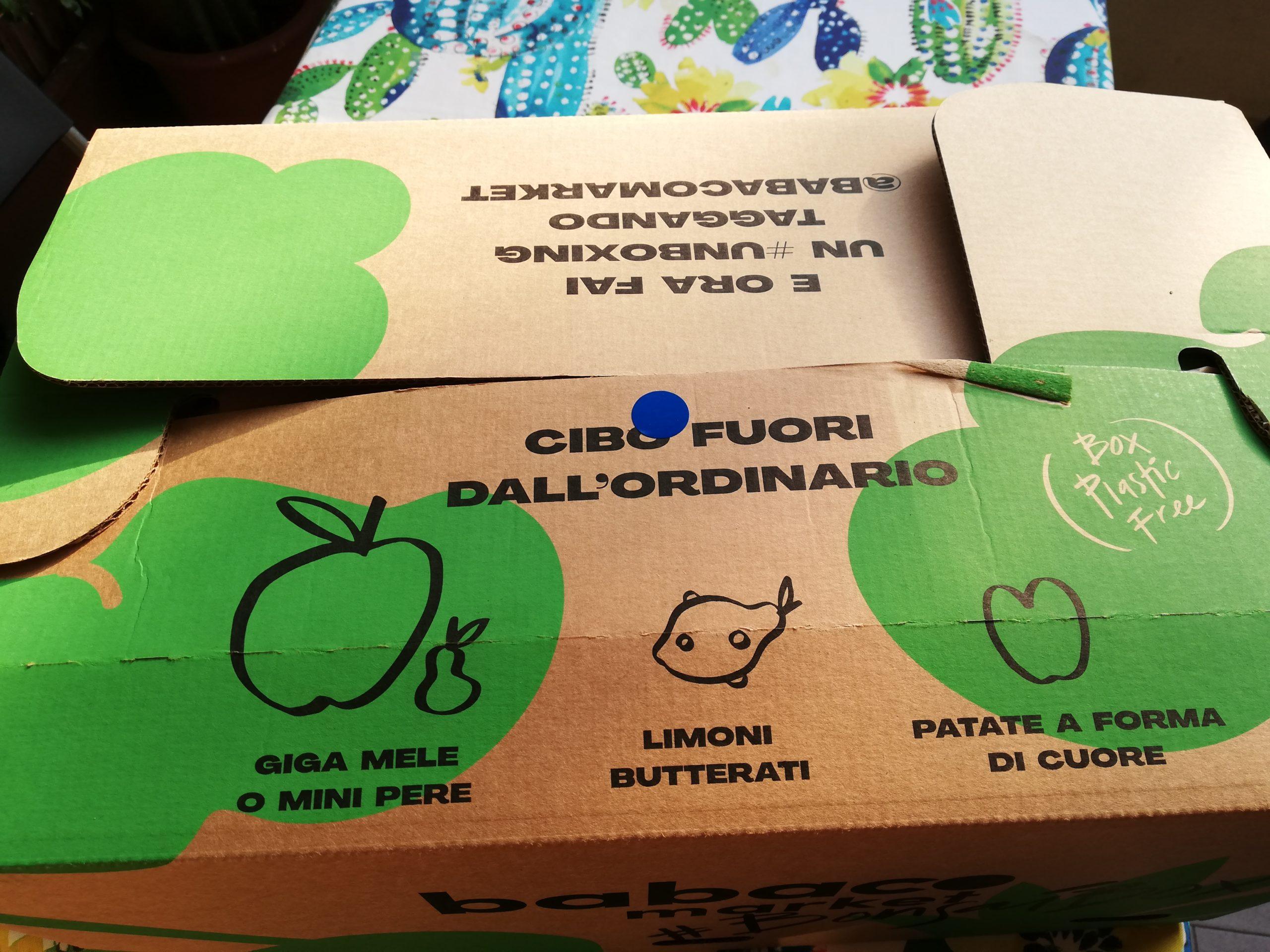Spreco alimentare, babaco box Bonsai