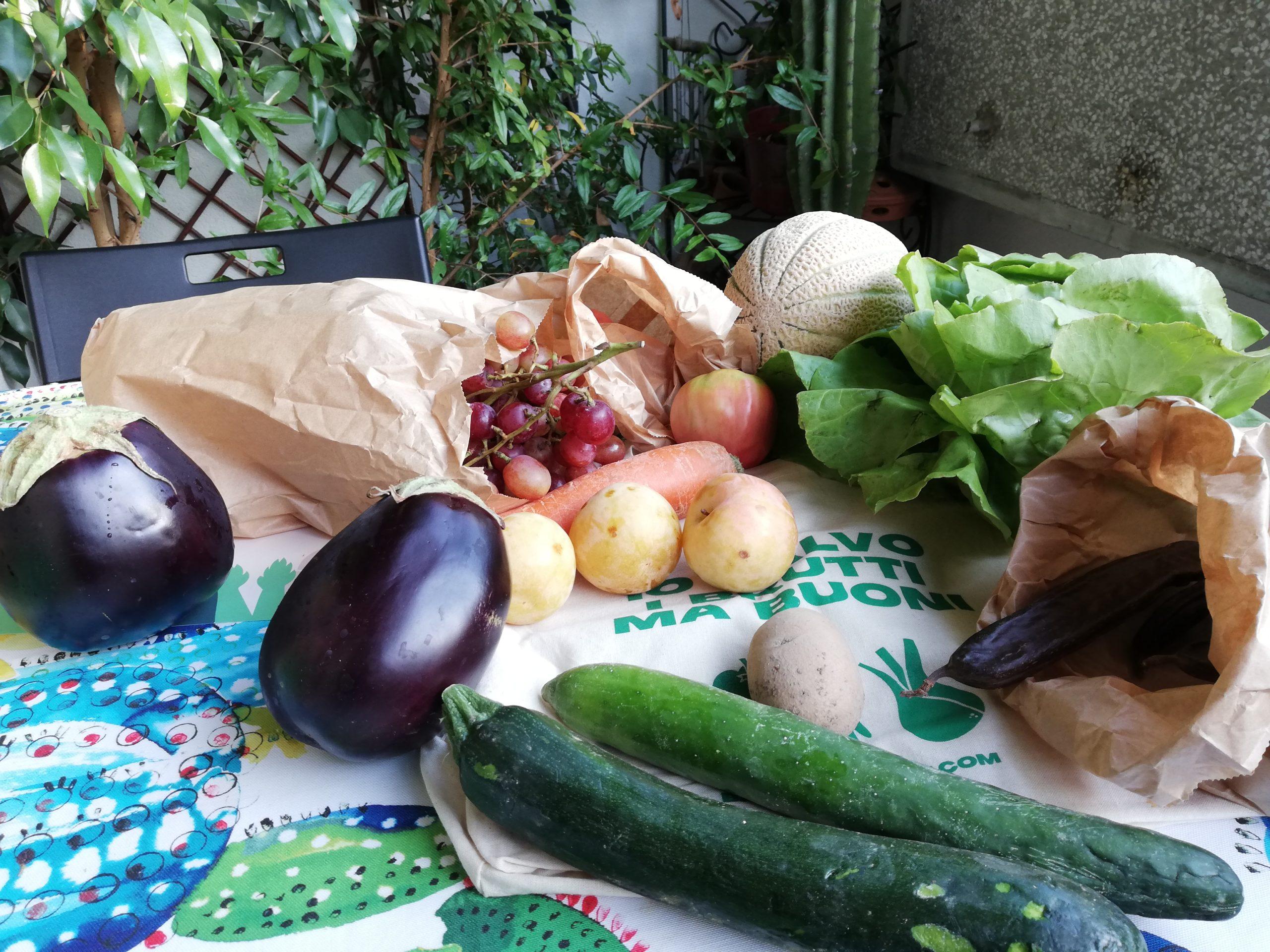Spreco alimentare, frutta e verdura della box di Babaco Market