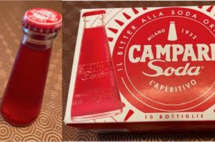 Campari confezione e bottiglia decolorata