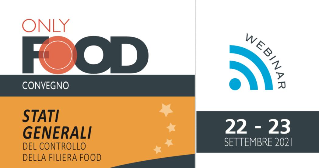 Locandina webinar stati generali controllo della filiera food