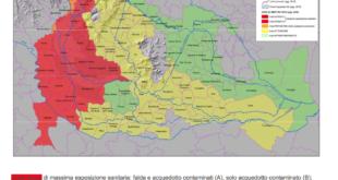 pfas, mappa contaminazione in Veneto