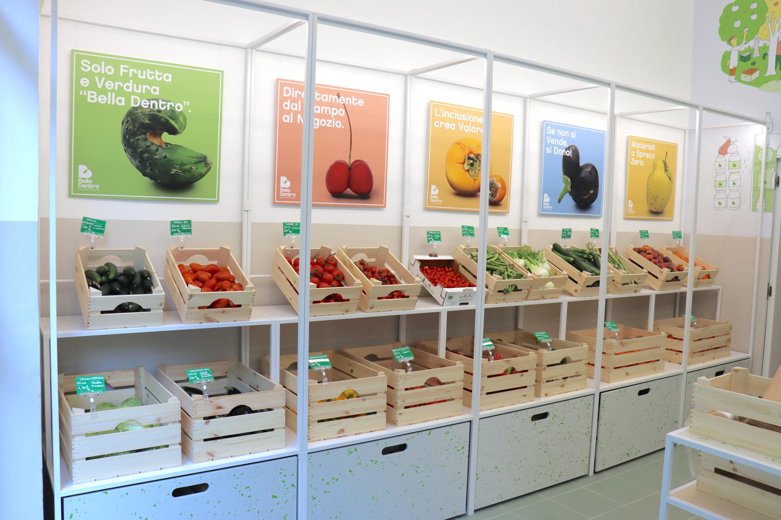 Spreco alimentare, negozio Bella Dentro viale Lazio