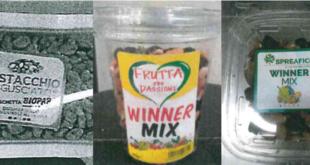 allerta alimentare pistacchi winner mix frutta secca
